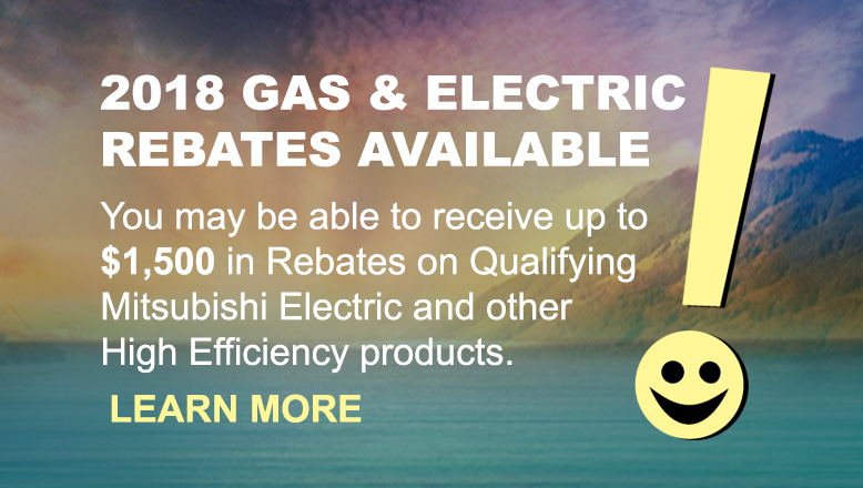 2018 GAS & ELECTRIC REBATES AVAILABLE