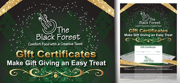 "Black Forest Restaurant <p class='pscrol'>""I have been a client for several years. Girard Advertising always does thorough research before starting a project. They do a great job at getting to the heart of a company. For my company, they have designed TV spots, logo, new marketing materials, media buying and direct mail. Karen is one of the most energetic people I know. She is literally bursting with ideas and cannot wait to take a concept and push it as far as possible. Her communication skills are excellent as is her ability to meet deadlines. I heartily recommend Girard Advertising.""  <br/><br/>— Martha Walters, Owner</p>"