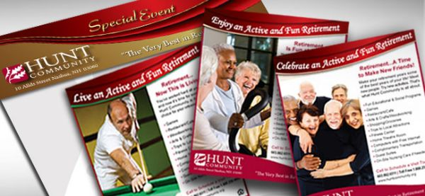 "Hunt Community <p class='pscrol'>""Hunt Community has been extremely satisfied with the level of quality and professionalism from Girard Advertising. We have utilized them for numerous projects including graphic design, newspaper ads, direct mail and printing. Their design team is very talented and has shown great attention to detail.  All projects have always been completed on time and often under very tight deadlines, which is extremely important to us.   Everyone at Girard Advertising has been helpful and wonderful to work with! ""  <br/><br/>— Kathy Miller, Marketing Director</p>"